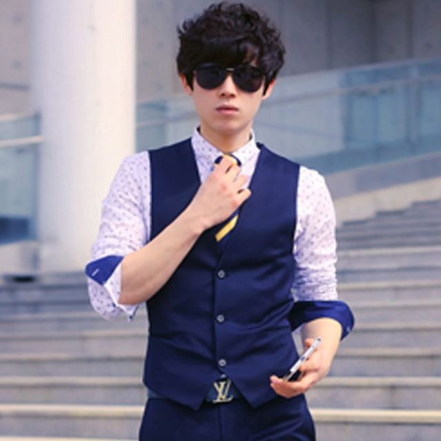 2016 new men's suits men Slim vest dress sleeveless vest formal business casual groom groomsman jacket