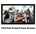 Great Picture Quality Flat Fixed Frame Projection Screen 92inch 16:9 DIY Wall Mount 3D Projector Screens