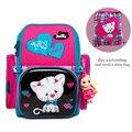 Delune фабрика От 5 до 9 лет новые школьные сумки Ортопедические Рюкзак Сумка Мультфильм Mochila Infantil детский школьный рюкзак для девочек