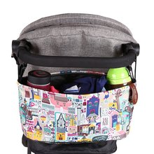 Waterproof Large Capacity Baby Stroller Accessories Diaper Nappy Bag Cartoon Color Folding Animal Organizer