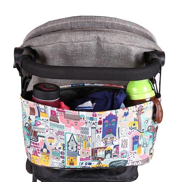 Waterproof Large Capacity Baby Stroller Accessories Diaper Nappy Bag Cartoon Color Folding Animal Stroller Organizer Bag