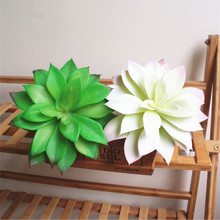 1 Pc Artificial Simulation Flower Head Large 17cm Lotus Succulent Plant DIY Landscape Home Garden Decor