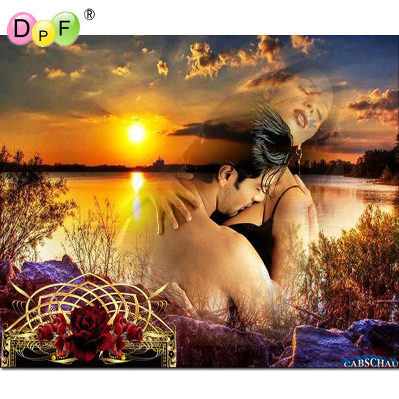 DPF Needlework Diamond embroidery crystal full square diamond cross stitch home decor unfinished painting The river lover