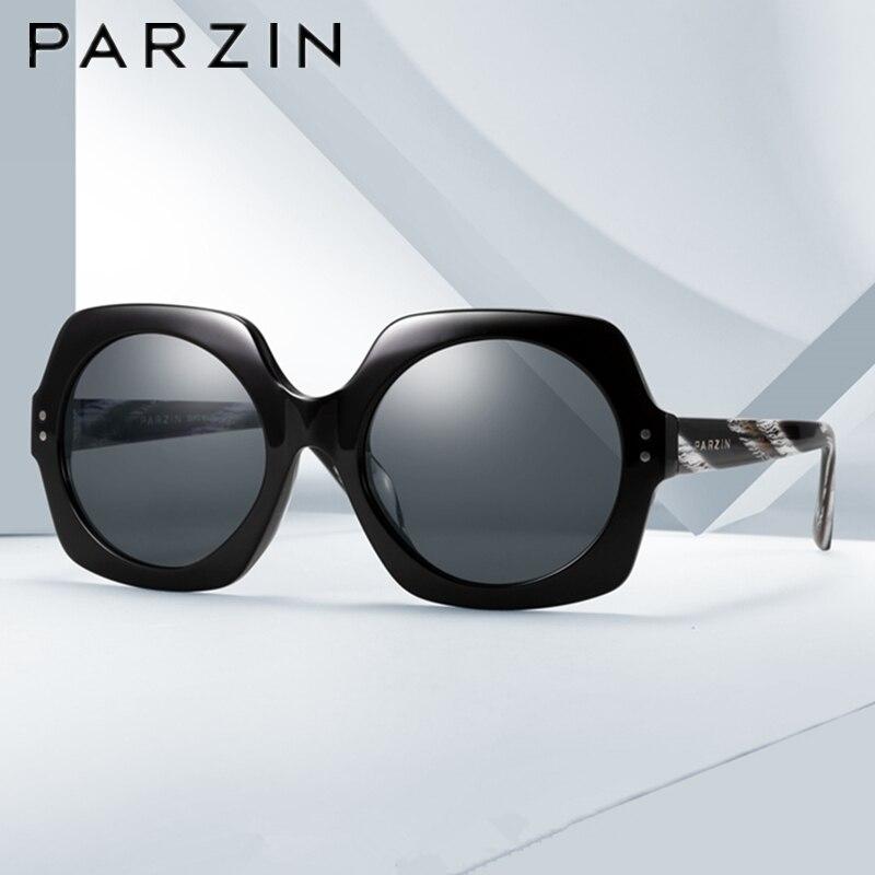 Parzin Sunglasses Vintage Polarized Sunglasses Women Oversized HandMade Female Sun Glasses Ladies Driving Glasses With Case
