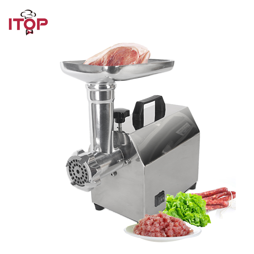 ITOP Powerful Electric Meat Grinder Household Sausage Stuffer Filler Stainless Steel Meat Mincing Machine household electric meat grinder stainless steel meat mincer mincing machine meat cutter multifunction sausage thmgf500a
