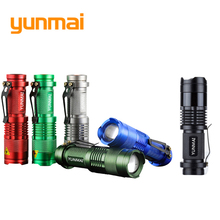 Waterproof Mini Flash Light CREE Q5/XPE 2000 Lumens LED Flashlight Adjustable Focus Lantern Portable Lights Hunting Spotlight