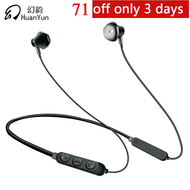 Huan Yun Bluetooth Earphone Bluetooth Headphone Headset Wireless Neckband Sport Bluetooth V5.0 Stereo Bass with Mic Auriculares