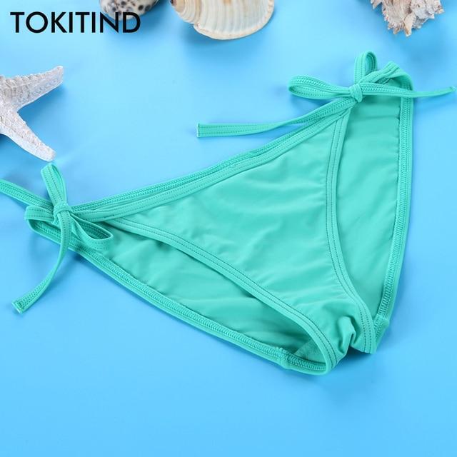 Tokitind Green Swimsuit Women Plus Size Panties Adjustable Bikini