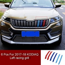Tonlinker Cover Stickers for SKODA KAROQ/KODIAQ 2017-18 Car Styling 3-6 PCS ABS Racing Grills Decoration case