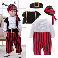 Pirates Of The Caribbean Cosplay Costume For Baby Boys Party Clothes Pirate Captain For Christmas Halloween