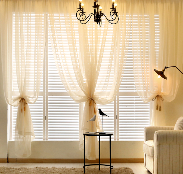 Aliexpress.com : Buy American simple solid color linen voile ...