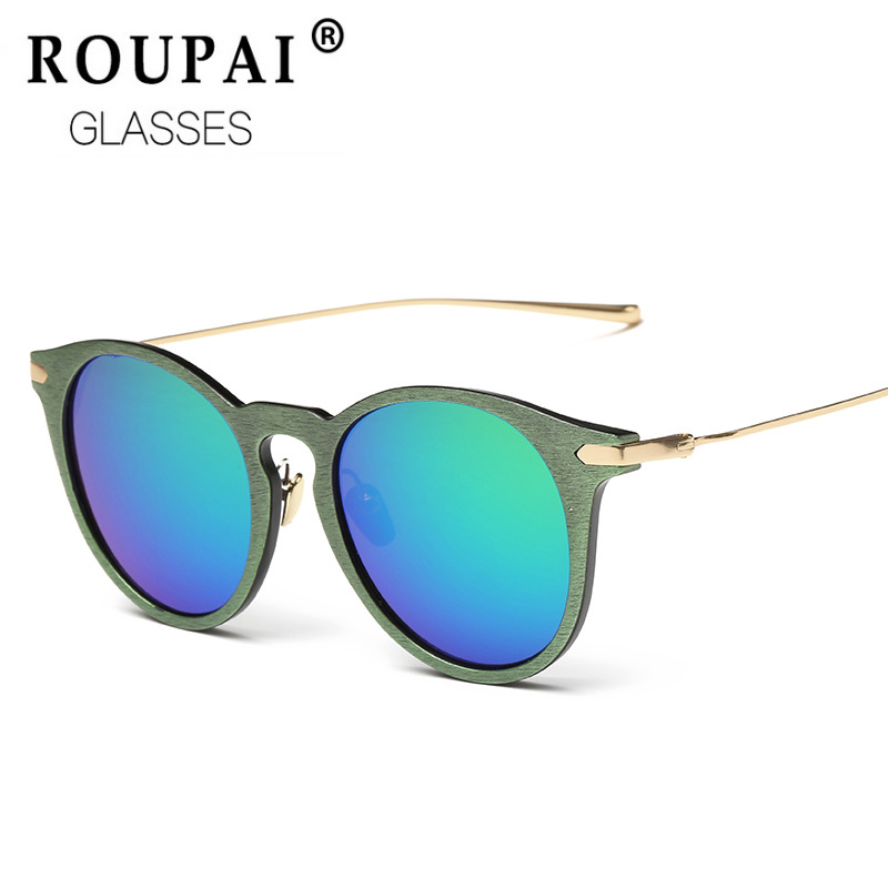 ROUPAI Unisex fashion vintage Square Round Sunglasses women men brand designer outdoor cool Mirror coating Sun Glasses HT026  -  Luck Day store store
