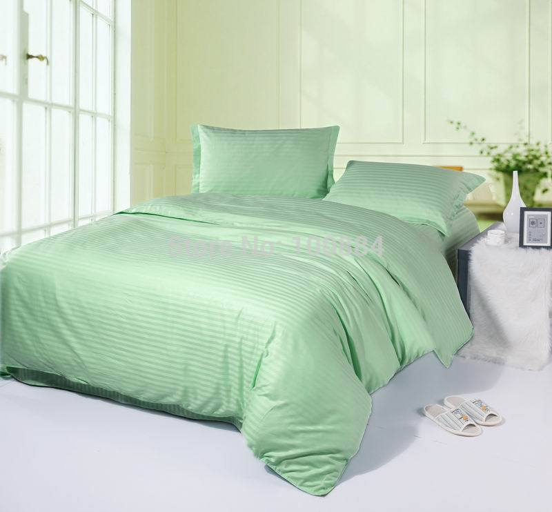 Learned King Size Green Color Bedsreads,100% Cotton Hotel Bedding Sets,flat/fitted Bed Sheet Hotel Bedspreads,hotel Duvet Cover Green Profit Small Home & Garden