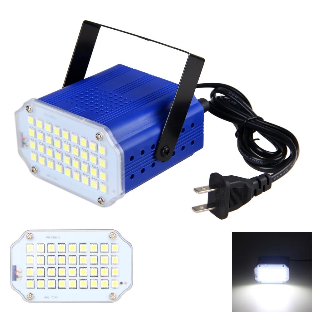 20W LED Stage Light 100-240V White Color Light 36pcs 5050 Portable Light for DJ Strobe Flash Club Party Disco Bar KTV