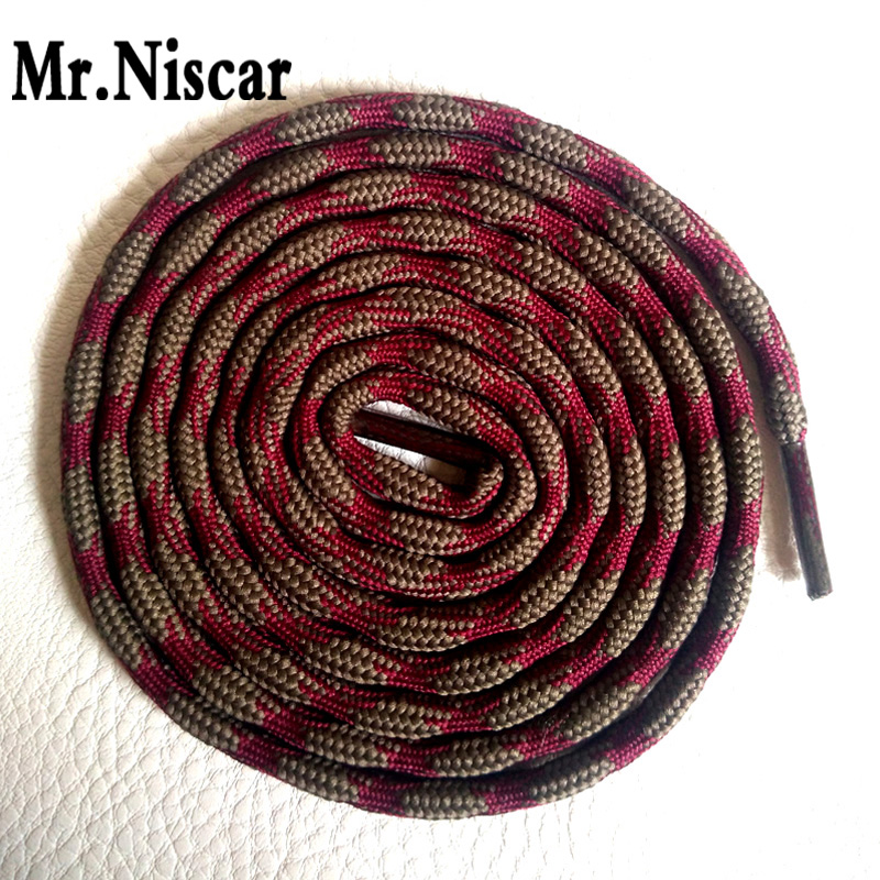Mr.Niscar 10Pair Round Polyester Shoe Laces Climbing Hiking Sneakers Shoelaces 120cm 140cm 160cm Athletic Sports Rope Shoestring 1 pair of 120cm dots round shoe laces shoelaces shoe strings for climbing