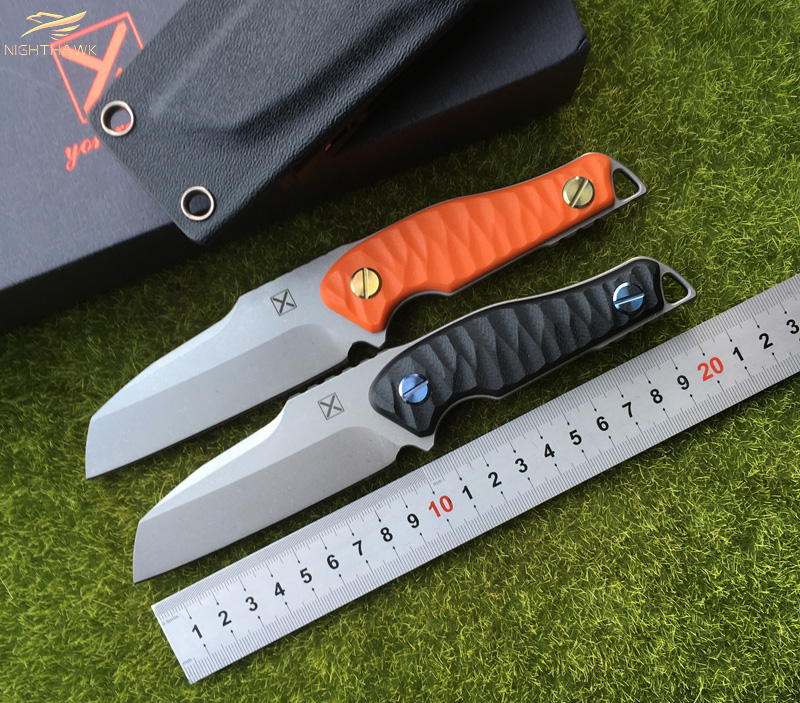 NIGHTHAWK YX2001 straight knife TI-6Al-4V blade G10 handle fixed blade KYDEX Sheath camping outdoors survival knives EDE tools nighthawk slay vg 10 blade g10 handle fixed blade tactical hunting knife kydex sheath camping survival outdoors edc knives tools