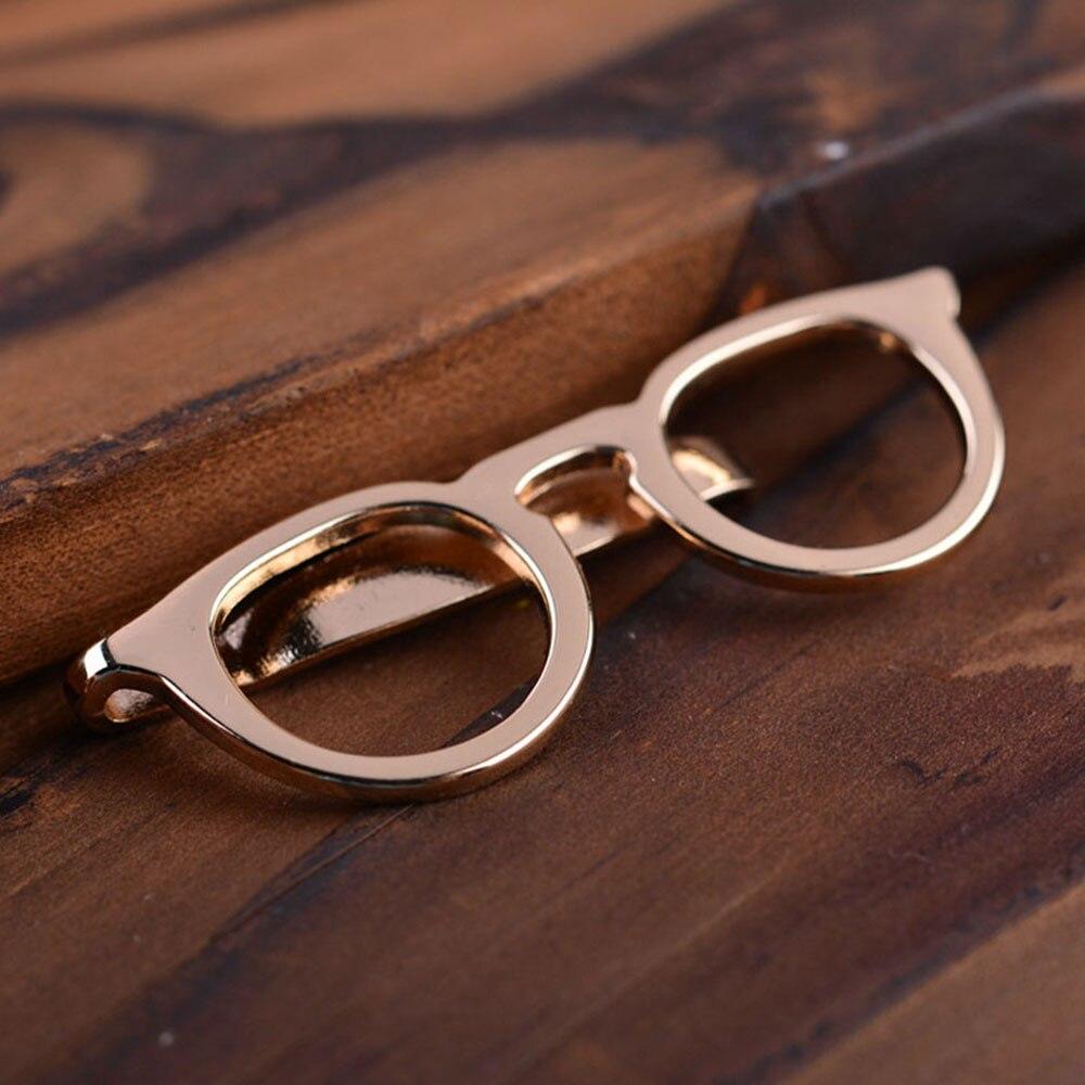 1 Pcs Formale Exquisite Business Legierung Gold Gläser Form Männer Anzüge Krawatte Clips Tie Bar Schließe Pin Hemd Tasche Schmuck