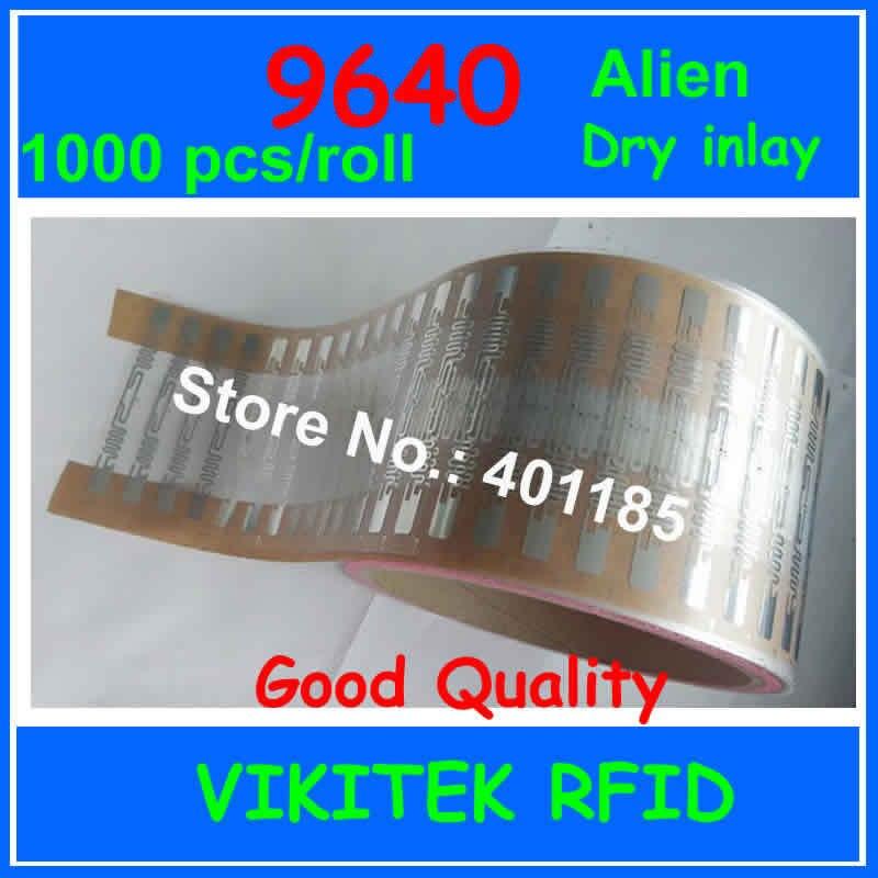 Чужеродные authoried 9640 UHF RFID сухой декор 860-960 МГЦ Higgs3 EPC C1G2 ISO18000-6C может быть использован для RFID метки 1000 шт. в рулоне
