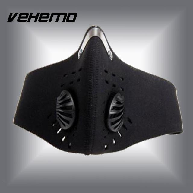 Vehemo Cool Anti Dust Motorcycle Bicycle Cycling Bike Ski Atv Half Face Mask Filter Black Durable Neoprene High quality