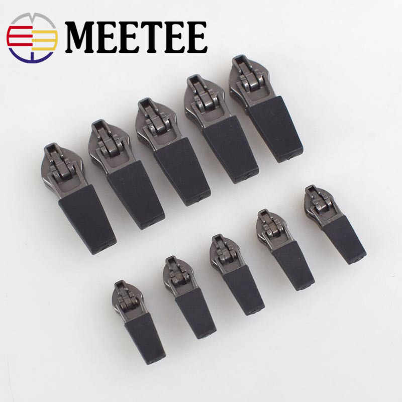 e23a9c42e Meetee 10pcs 3  5  Anti-loading Waterproof Zipper Sliders Reverse  Installation for Invisible