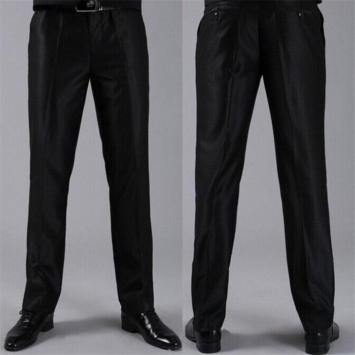 Мужские костюмные брюки модные свадебные формальные 12 цветов повседневные брюки известный бренд блейзер брюки Деловое платье брюки CBJ-H0284 - Цвет: slim shinny black