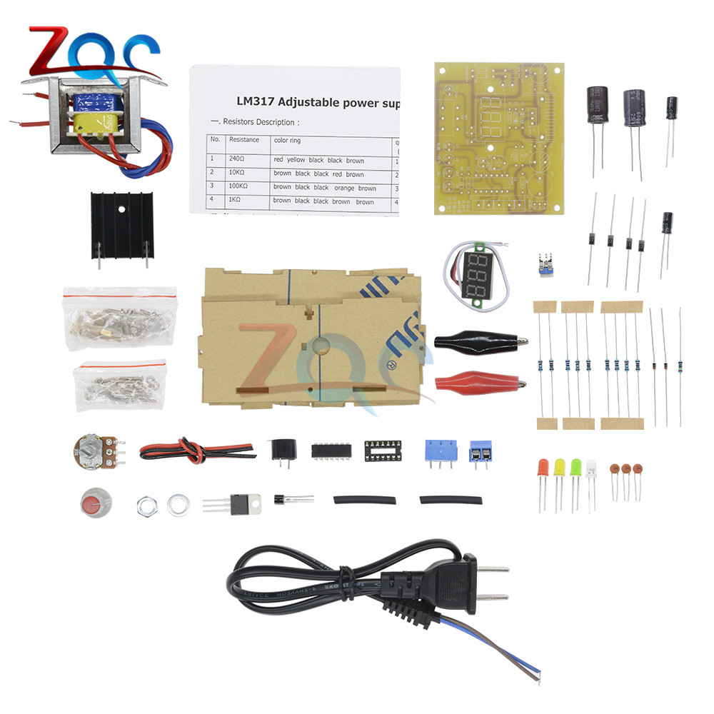 Buy Diy Kit Lm317 Adjustable Voltage Regulator 220v Schematic If Need More Parts Pls Click Hlb1kmv0fvxxxxaqxvxxq6xxfxxx2