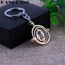 H P Movie Jewelry Keychains Ravenclaw time turner Hourglasses Pendant Key Chains Key Rings Men Women Car Key Holder
