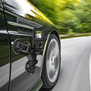 Image 3 - Triple Vacuum Suction Cup Mount Windshield Vehicle Car Hood Holder for Eken H9R SJ7 Star SJ8 Pro Insta360 ONE X Sports Camcorder