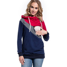 2018 Warm Cotton Maternity Tos Nursing Clothing Breastfeeding Hoodies For Pregnant Women Pregnancy Outwear Clothes A0080