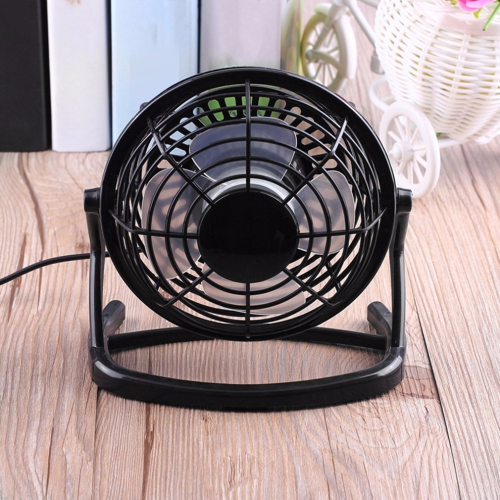 Portable DC 5V Small Desk USB 4 Blades Cooler Cooling Fan USB Mini Fans Operation Super Mute Silent PC / Laptop / Notebook computador cooling fan replacement for msi twin frozr ii r7770 hd 7770 n460 n560 gtx graphics video card fans pld08010s12hh