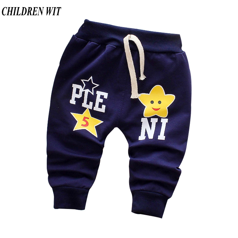 CHILDREN WIT Spring & Autumn Cotton Baby Pants Casual Cute Star Baby Boys Girls Harem Pants For 0-3 Year Kids Pants