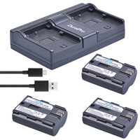 3Pcs BP 511 BP511 BP 511 BP 511A Battery+Dual Charger for Canon G6 G5 G3 G2 G1 EOS 300D 50D 40D 30D 20D 5D MV300i Digital Camera