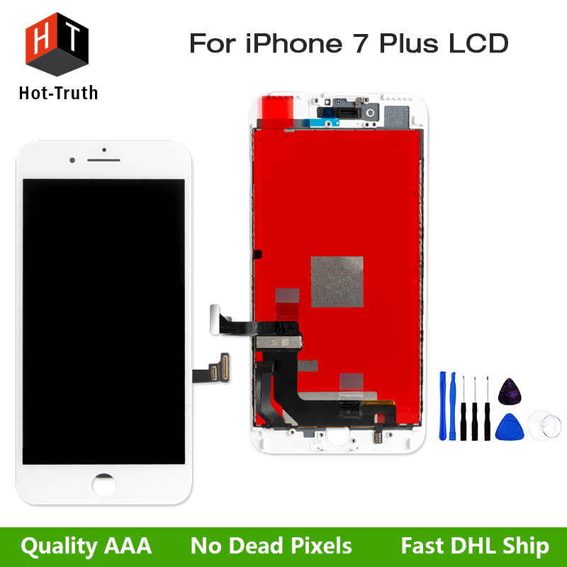Hot-Truth Replacement LCD For iPhone 7Plus Display Touch Screen Digitizer Assembly+ Free Tools with Fast Shipping+Black&White 1 pcs for iphone 4s lcd display touch screen digitizer glass frame white black color free shipping free tools