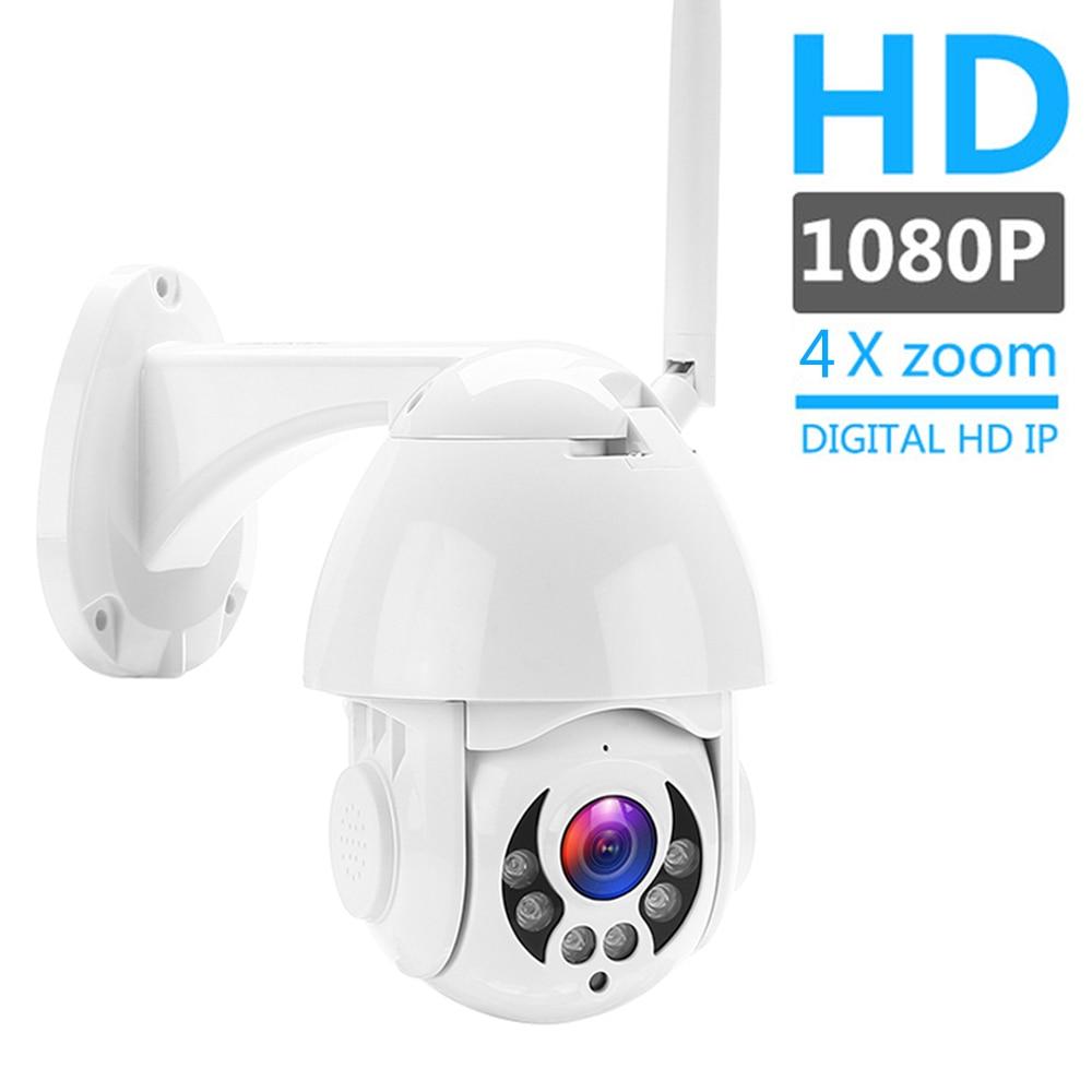Seesii 1080P PTZ IP Camera Outdoor Speed Dome Wireless Wifi Security Camera Pan Tilt 4X Zoom IR Network CCTV Surveillance