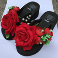 Специаль Дизайн Красивая Три Цвета Клинья Женщины Вьетнамки Летом Повседневная Одежда Женская Обувь Новое Поступление Горячей Продажи