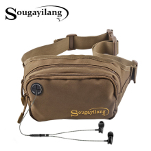 Sougayilang Fishing Waist Bag 20x8x12cm Nylon Headphone Lure Bag 3 Colors 2 Layers Waterproof Backpack Fishing Tackle Bag