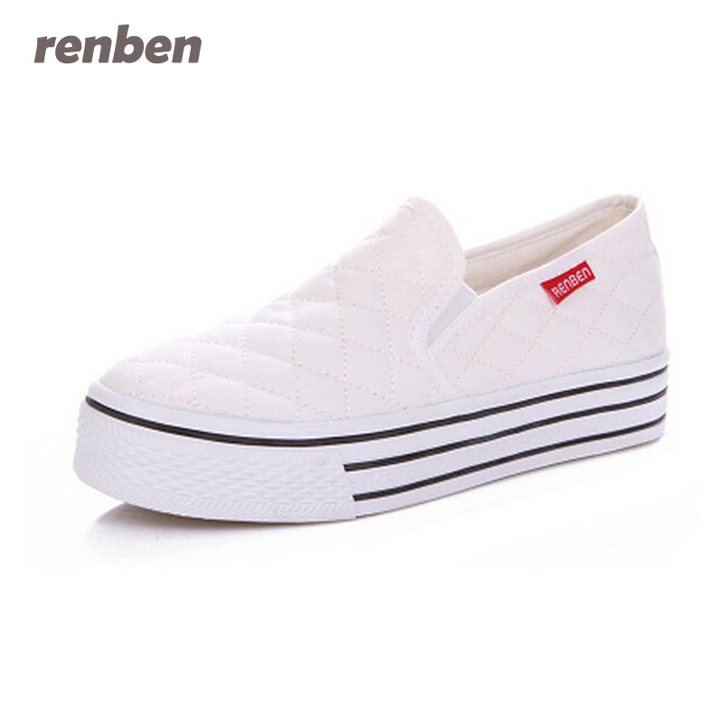 RENBEN Casual Shoes Women Canvas Flats Spring Fashion Espadrilles Slip-On Flat Breathable Summer Canvas Loafers Shoe 2e26 2017 summer shoes new canvas flats women lazy thick crust shoes fashion women loafers b1865