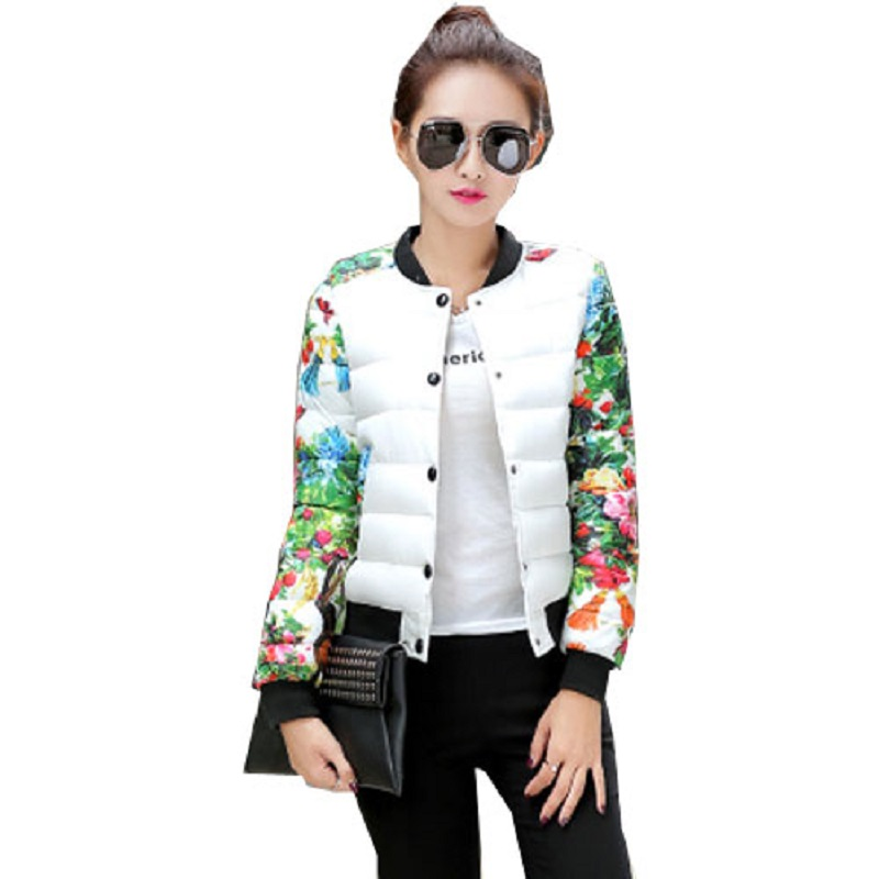 ФОТО 2016 Winter Women Parkas Coat Stand Collar Thin Ladies Fashion Stitching Slim Womens Short Down Cotton Jackets And Coats CT200