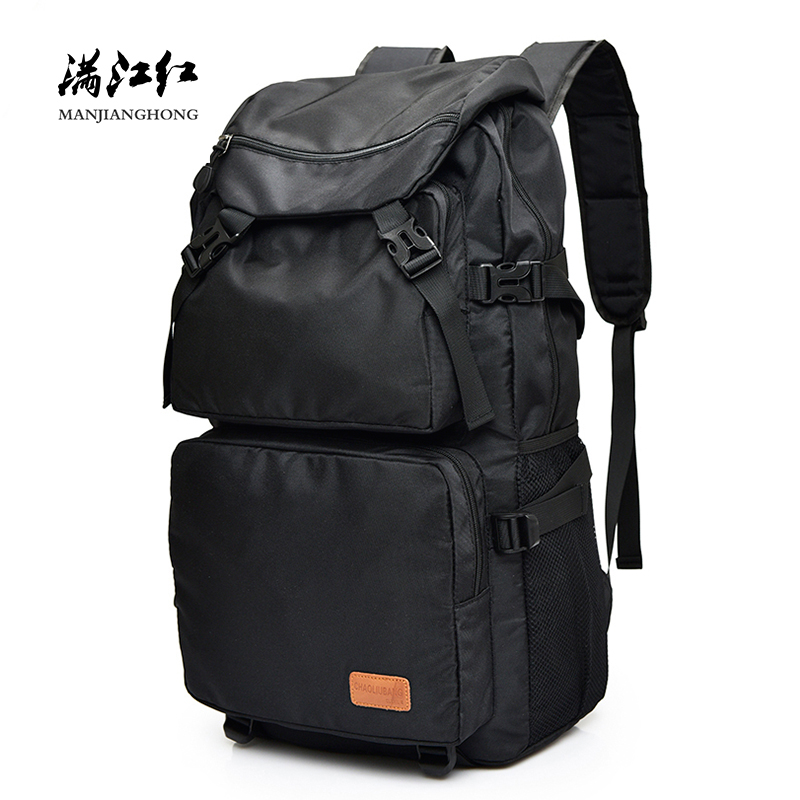 Large Capacity Casual Men Travel Backpack Fashion Waterproof Nylon 15 Inch Laptop Backpack Men School Bags For Boy Male RucksackLarge Capacity Casual Men Travel Backpack Fashion Waterproof Nylon 15 Inch Laptop Backpack Men School Bags For Boy Male Rucksack