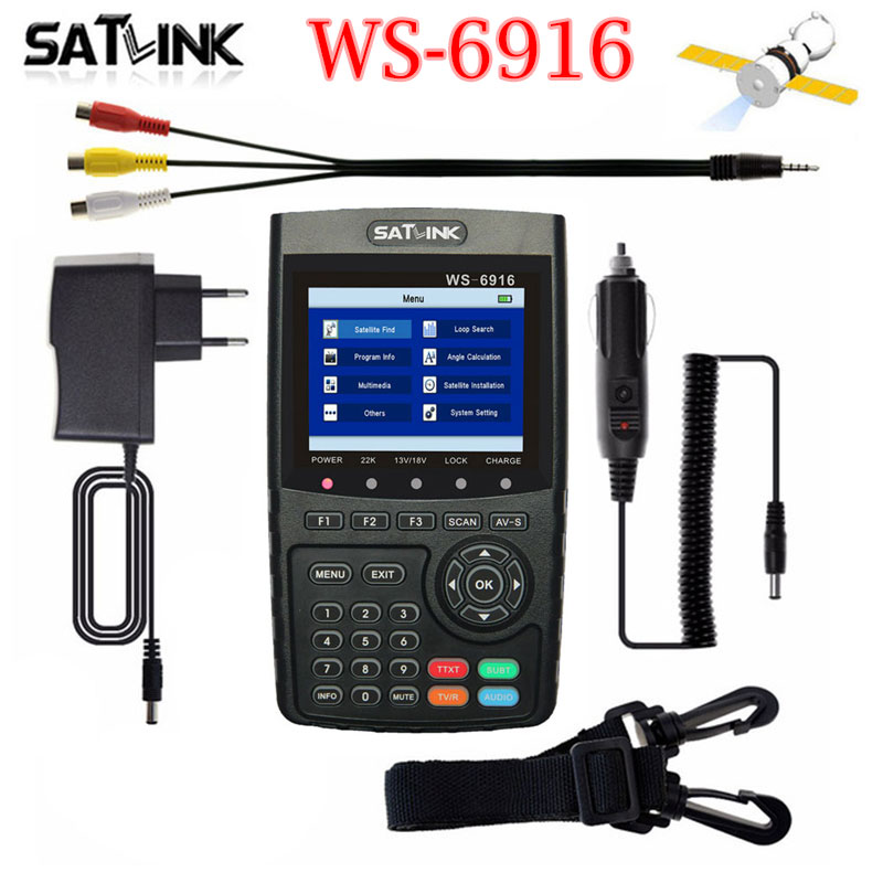 Hot Satlink WS-6916 satfinder dvb s2 DVB-S2 Satellite Finder Satellite meter MPEG-2/MPEG-4 Satlink WS 6916 pk 6906 6933 anewkodi original satlink ws 6906 3 5 dvb s fta digital satellite meter satellite finder ws 6906 satlink ws6906