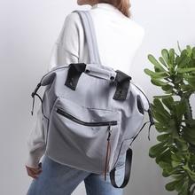 Женщины школьные сумки водонепроницаемый многофункциональный сумка плеча нейлон мода рюкзак высокое качество холст школьный