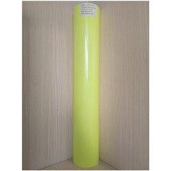 (50cm x 25M/Roll) PU Flex Neon Gelb Farbe Wärme Transfer Papier Vinyl Für Kleidung PU Vinyl Film für T shirts Eisen auf Vinyl aufkleber