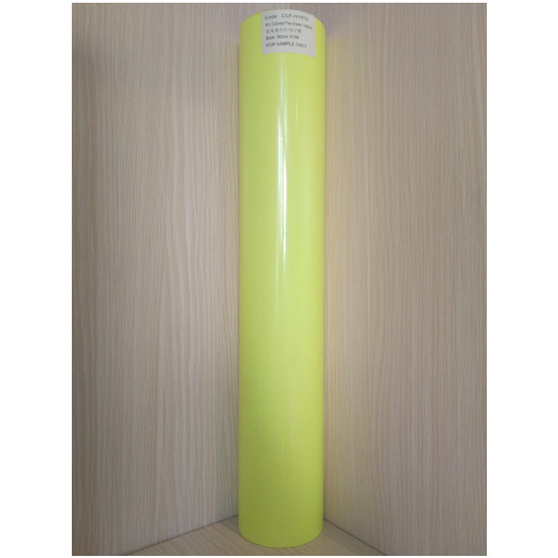 (50cmx25M/Roll) PU Flex Neon Yellow Color Heat Transfer Paper Vinyl For Clothes PU Vinyl Film for T shirts Iron on Vinyl Sticker nao for all we know neon yellow