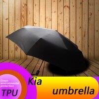 for kia k2 k3 k4 k5 k7 kx5 kx3 auto mobile automatic folding umbrella logo car printing pattern sunshine automobile accessories