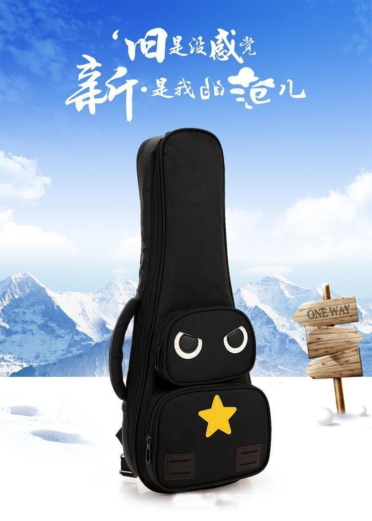 ukulele caso pequenos sacos de guitarra baixo