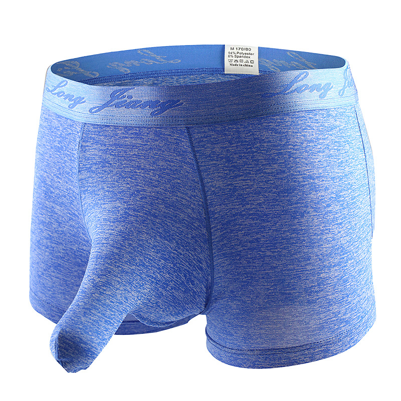 Humorous Erotic Mens Ice Silk Elephant Trunk Boxer Shorts Separation Penis Scrotum Role Playing Gladiator Costume Open Testis Underwear Back To Search Resultsunderwear & Sleepwears