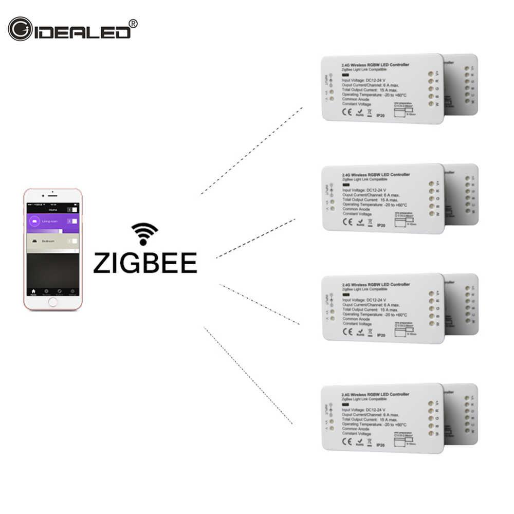 RGB CCT лента светодиодный пульт управления умная Светодиодная лента ZigBee контроллер DC12V 24 V совместимый ECHO светодиодный RGB Zll Стандартный управление приложением