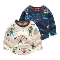 boy t-shirt velvet winter baby sweater Pullover thickening clothes