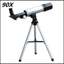 Бесплатная Доставка 90X Высокой Мощности F36050mm Рефрактор Пространство Типа Астрономический Телескоп для Детей с Портативными Штатив