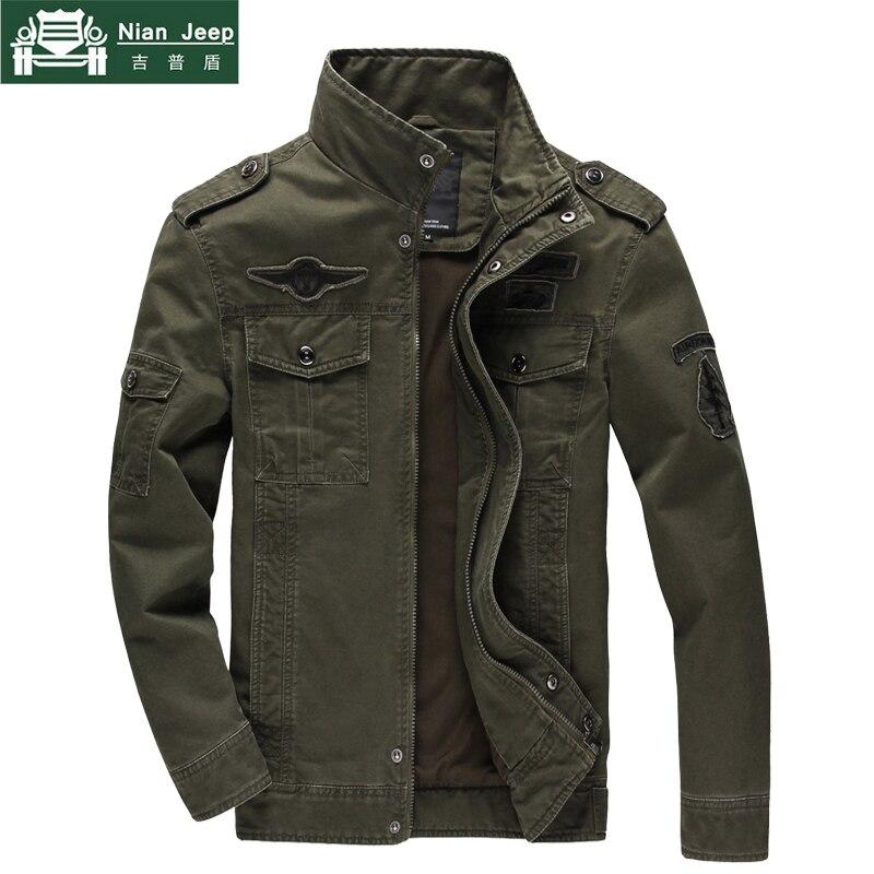 2018 heißer Verkauf Militärjacke Männer Plus Größe 5XL 6XL Frühling & herbst Fracht Armee Solide Baumwolle Männlich Marke Kleidung herren jacken